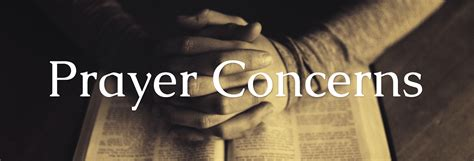 prayer concerns  chapel hill baptist church