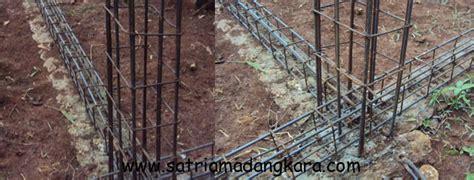 proses pemasangan besi tulangan sloof  kolom