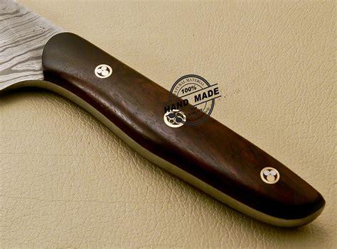 custom kitchen knives damascus kitchen knife custom handmade damascus kitchen