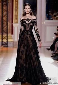 black wedding dresses with lace sleeves 2016 2017 b2b With black wedding dresses 2017