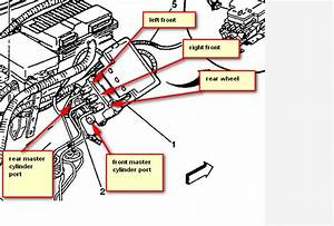 Where Do Brake Lines Enter The Abs Controller On 1999