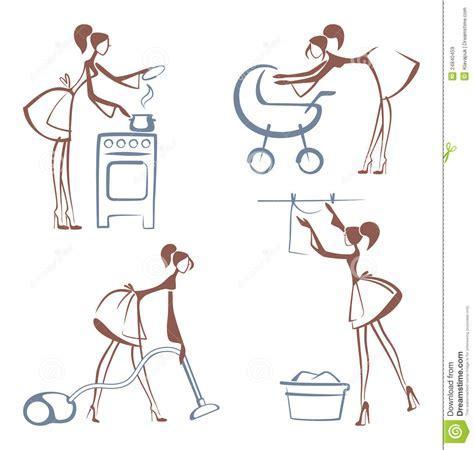 House Chores Symbols Royalty Free Stock Images   Image
