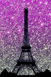 Eiffel Tower, Paris (Purple & Silver Glitters) - Phone ...
