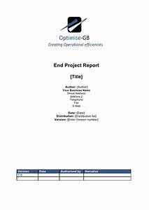 project end report project management template With end of project report template