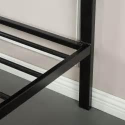 Faux Leather Classic Platform Bed Zinus