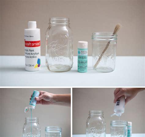 diy jar glasses diy painted mason jars tutorial