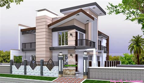 Double Storey Kerala Houses Front Elevations – Amazing