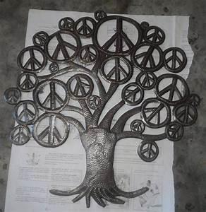 Arbre De Vie Decoration Murale : arbre de vie fait la main l 39 arbre de vie d coration murale abstraite paroi m tallique art ~ Teatrodelosmanantiales.com Idées de Décoration
