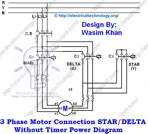 Three Phase Motor Connection Star Delta Without Timer
