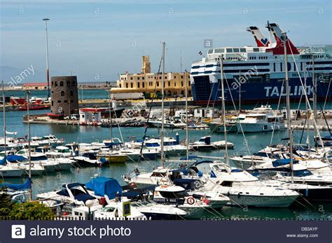 Ferry Boat Africa by Ferry Boat At Ceuta Harbor Africa Stock Photo