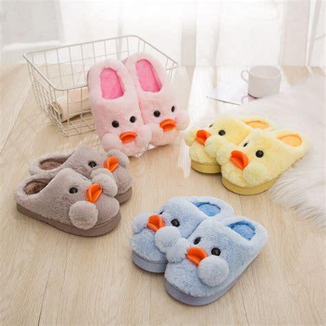winter children kids warm cotton slippers boys girls soft