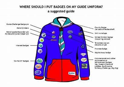 Badges Guide Guides Uniform Brownie Scouts Badge
