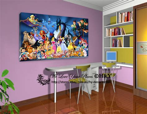 30 Wall Decor Ideas For Your Home: 30x50x3cm Disney Characters Stretched Canvas Prints Wall