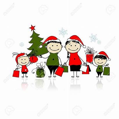 Christmas Shopping Clipart Bags Gifts Vector Clip