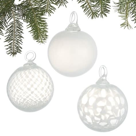 white art glass ornaments the holidays pinterest