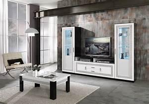 Meuble Tv Vitrine : vitrine meuble tv laqu strass tea design chic pour votre salon ~ Teatrodelosmanantiales.com Idées de Décoration