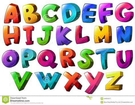 Letters Of The Alphabet Stock Vector. Illustration Of