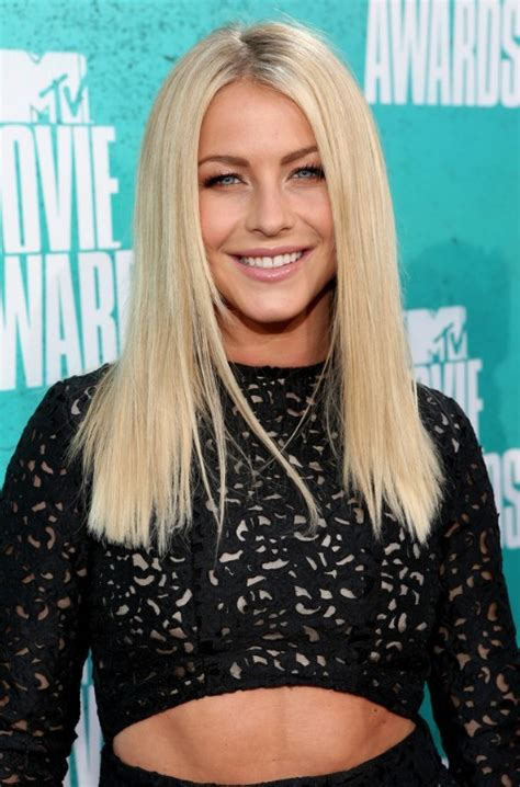 julianne hough long blonde straight hairstyle hairstyles