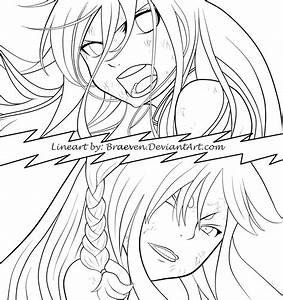 Erza vs. Minerva (Fairy Tail Chapter 353) by braeven on ...