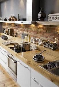 Les 25 meilleures idees concernant plan de travail sur for Idee deco cuisine avec meuble scandinave bois
