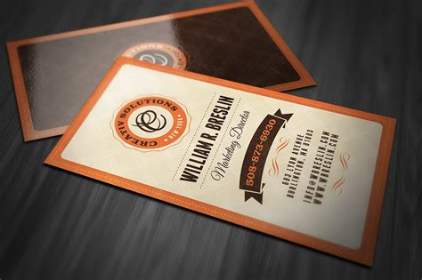 retro business card business card templates creative