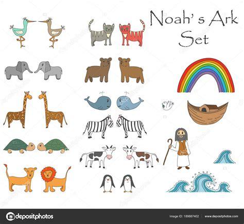 historia arca de no en dibujos dibujos biblicos noah story 294 | depositphotos 189887402 stock illustration vector noahs ark set with