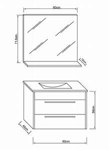 meuble sdb blanc avec vasque miroir With dimensions salle de bain