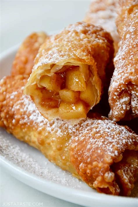 apple pie egg rolls   taste