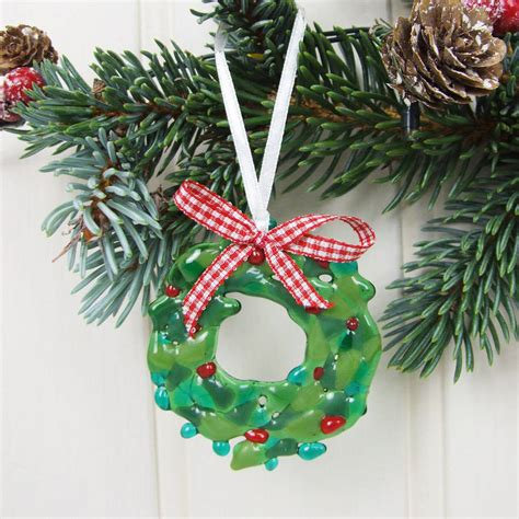 handmade glass christmas tree decorations mouthtoears com