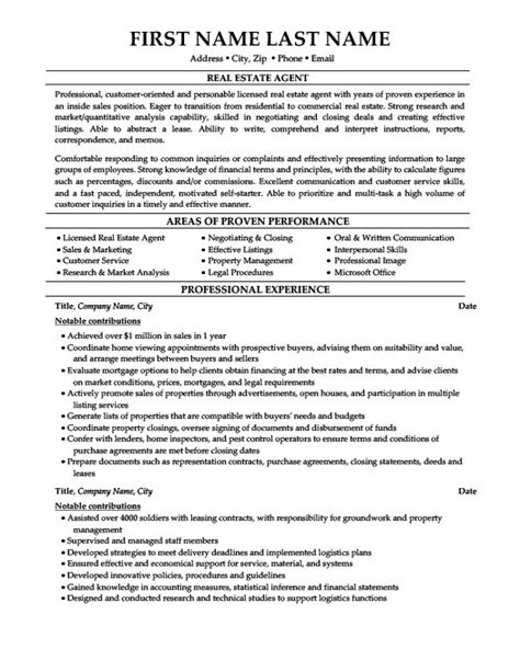 Real Estate Resume Templates by Real Estate Resume Template Premium Resume Sles