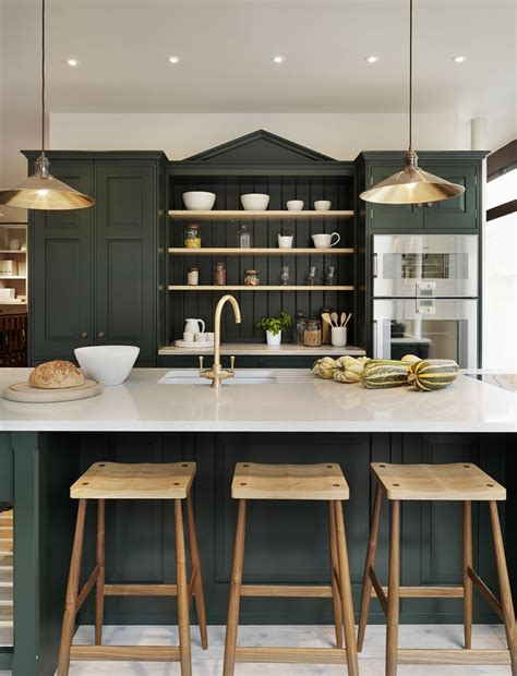 forest green kitchen mixing metals how to update a brown kitchen by adding 1045
