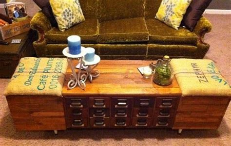 table catalogue vintage finds card catalog coffee table restore