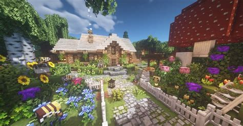 super proud    cottage   built    guys  minecraft