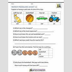 Money Worksheets For First Grade