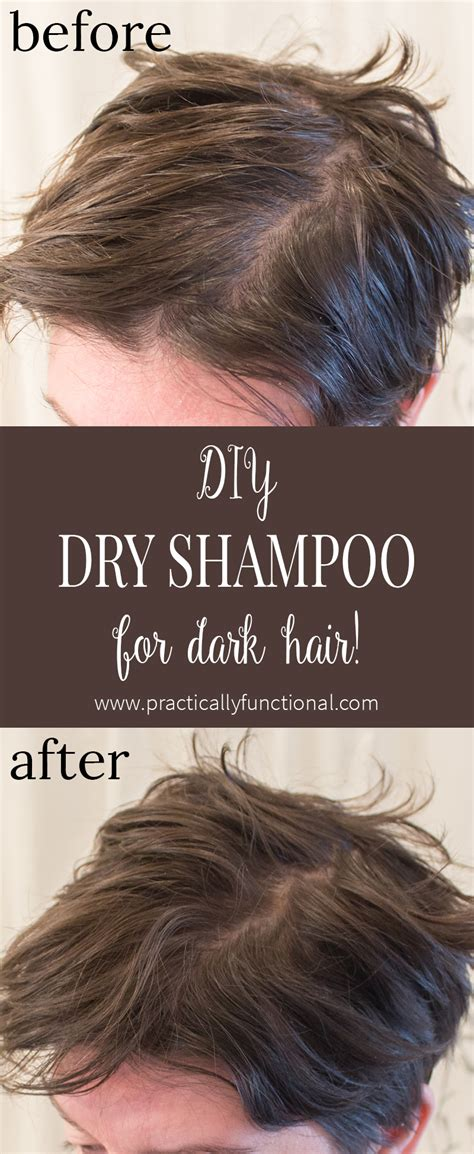 diy dry shampoo  dark hair