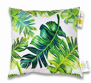 Coussin Exterieur Maison Du Monde : coussin d 39 ext rieur blanc imprim jungle feuilles de palmier 45x45cm 24 salon d 39 t ~ Melissatoandfro.com Idées de Décoration