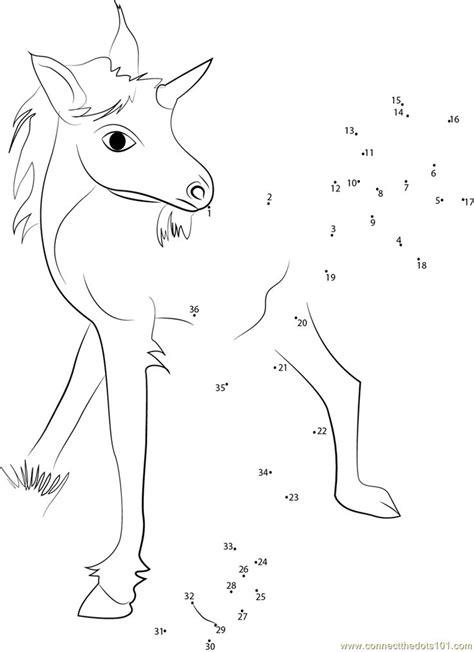unicorn baby dot  dot printable worksheet disney