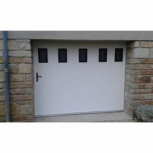 porte de garage laterale coulissante pvc manuelle With porte de garage pvc blanc