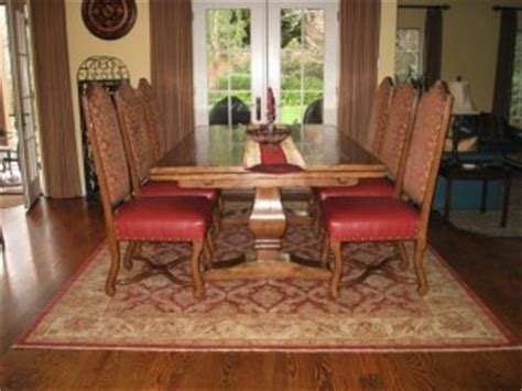 size rug     dining room