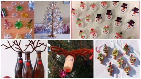 christmas decorations  recycled material
