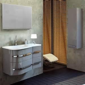 meuble salle de bain asymetrique meuble de salle de bain design gris laqu 233 achat vente salle de bain complete meuble de salle