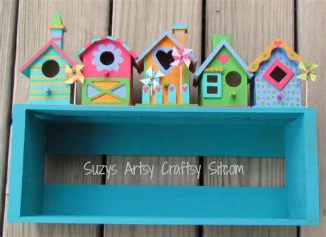 painted houses shelf tutorial
