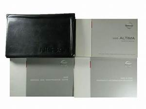 2005 Nissan Altima Owners Manual Leather Case Used Oem