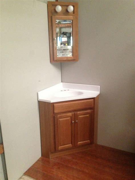 Corner Vanity Top by 24x24 Oak Corner Vanity Cabinet W Top Med Cabinet Ebay