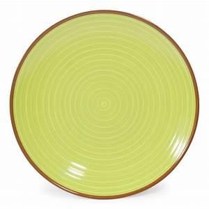 Assiette Plate Originale : assiette plate en fa ence verte beige d 27 cm madrid maisons du monde ~ Teatrodelosmanantiales.com Idées de Décoration