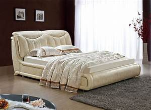 designer modern genuine real leather soft bed double bed With american home furniture beds