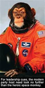 How will humans... Space Chimp Quotes
