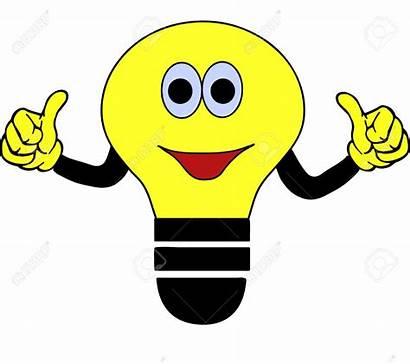 Bulb Clipart Smiling Cartoon Bulbs Illustration Lamp
