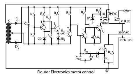 Ac Motor Schematic by Electronics Motor Controller Electronics Project