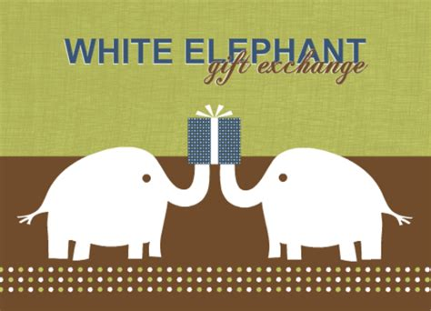 white elephant gift exchange ideas for parties from